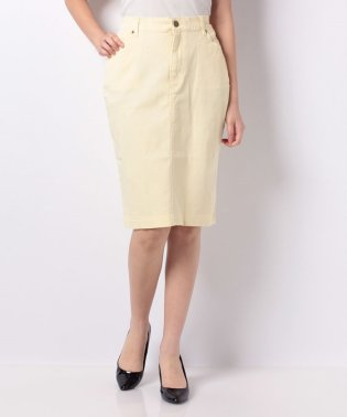 美ラインストレッチカラータイトスカート