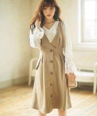 トレンチ風デザインジャンパースカート