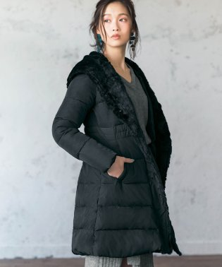 エコファービッグカラー中わたコート