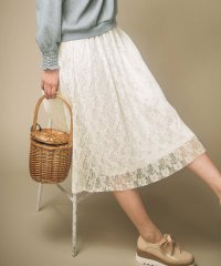 プリーツレース素材スカート
