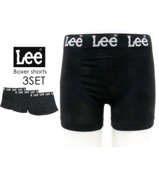 【Lee】 ボクサーパンツ 3枚組 セット ナイロン成型ストレッチ素材