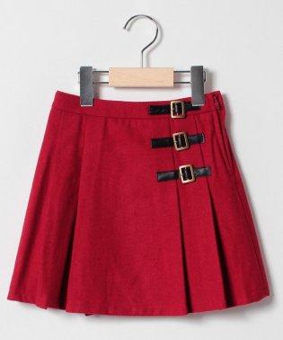 ベルトつきプリーツスカート
