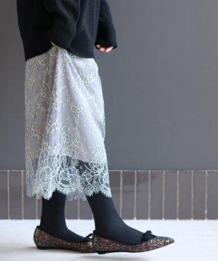 カラーシャンティーレーススカート