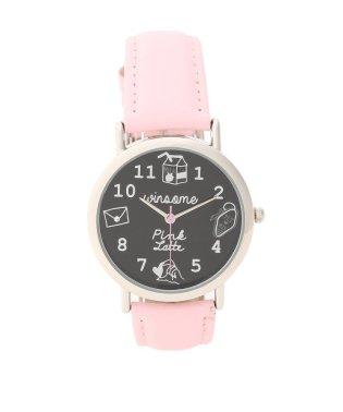キュートフェイスカラーベルト腕時計