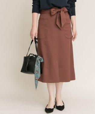 【ROSSO】ポケットAラインミディスカート