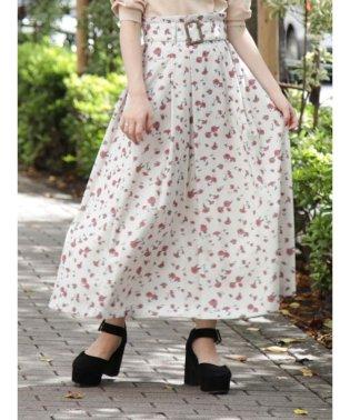 【E】ArtPatternフレアスカート