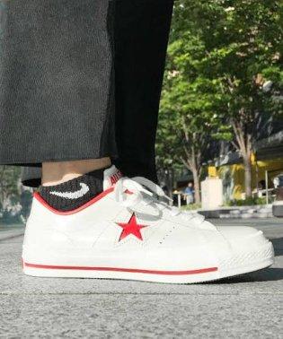 CONVERSE ONE STAR J  ホワイト/レッド