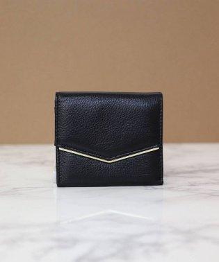 【牛革】デルタフラップウォレット/ちい財布