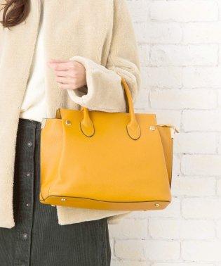 【2way】【3点セット】サイドリベットハンドバッグ