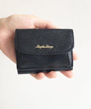 Legato Largo シャイニーフェイクレザー 三つ折りミニ財布