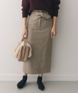ネップツイードIラインスカート