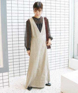 【 CLASSY. Closet×SLOBE 】細コールジャンパースカート◆