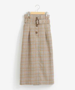 ワイドベルトハイウエストスカート