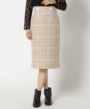 ロービングチドリチェックタイトスカート