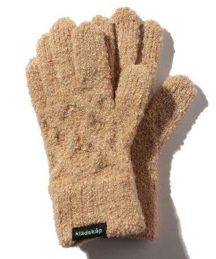 マシュマロケーブルニット5本指手袋