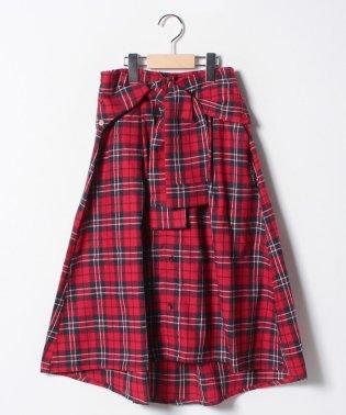 チェックシャツスカート