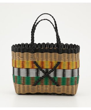 PLASTIC STRAW WOVEN BEACH BAG