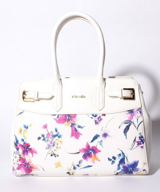 【rienda】BLUR FLOWER PT SIDE BELT TOTE