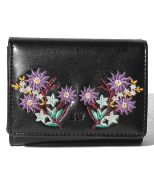【SLY】EMBROIDERY TRIFOLD WALLET