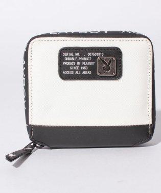 【プレイボーイ】コーティングラウンドファスナー財布