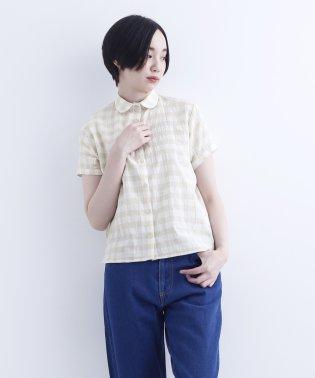 【IKYU】チェック柄丸襟ブラウス1546-0521