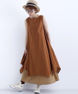 アシメ裾レイヤードワンピース7697-0719