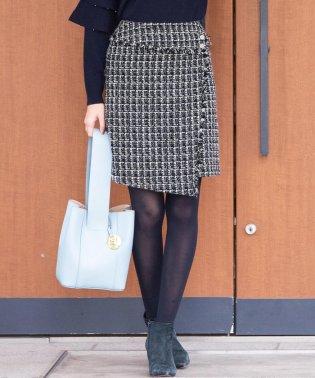 ラメファンシー台形ミニスカート