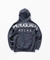 1PIU1UGUALE3 RELAX(ウノピゥウノウグァーレトレ) バックロゴプリントプルオーバーパーカ