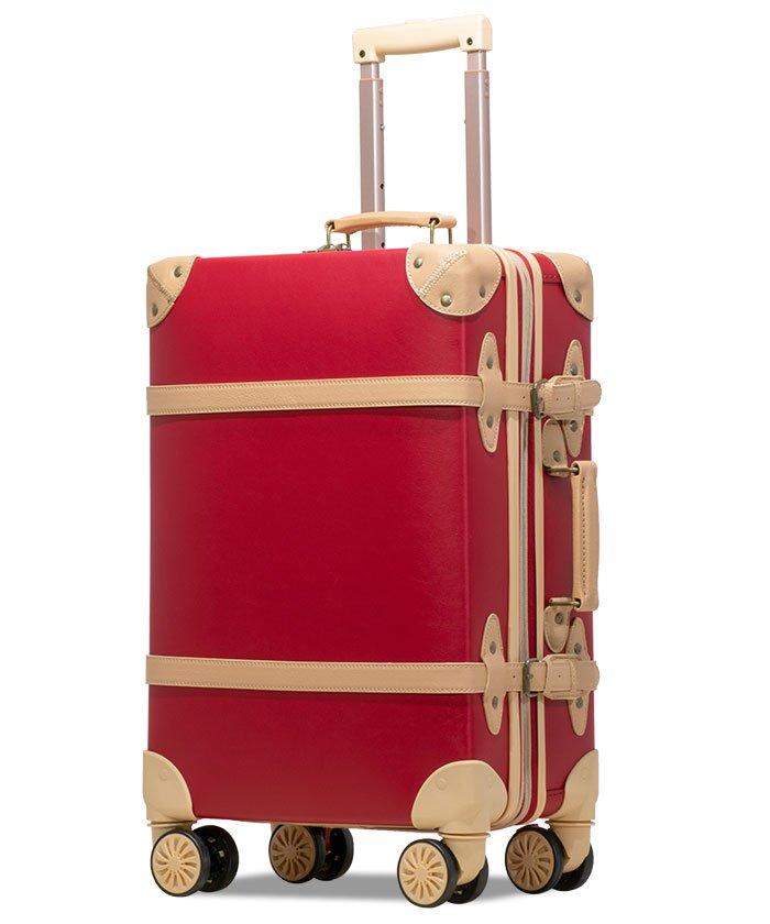 (tavivako/タビバコ)【RECESS】トランクキャリー スーツケース M サイズ ストッパー付8輪キャスター TSAロック 軽量/ユニセックス レッド