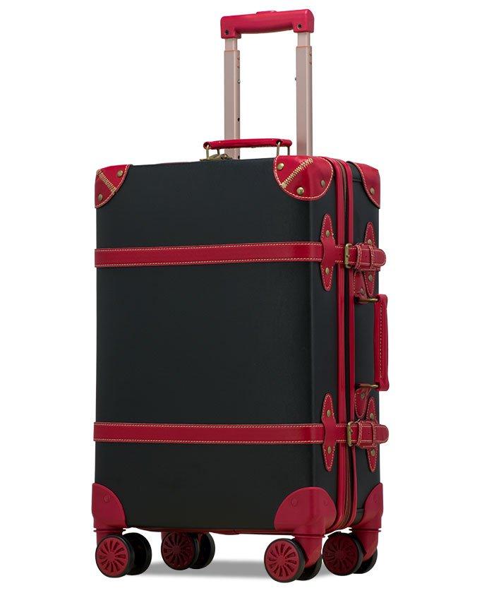 (tavivako/タビバコ)【RECESS】トランクキャリー スーツケース M サイズ ストッパー付8輪キャスター TSAロック 軽量/ユニセックス ブラック
