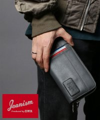 【別注】【JEANISM EDWIN】ステッチ切替ラウンドファスナー長財布