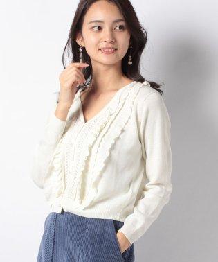 透かしニットセーター