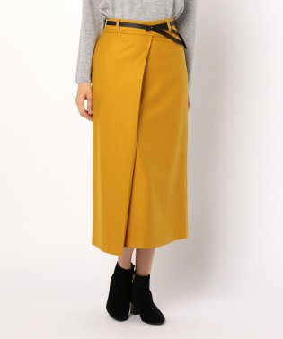 ベルト付ロングスカート