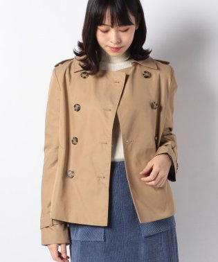 SMITH COTTON SHORT TRENCH
