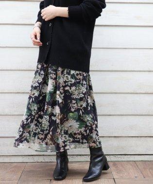 楊柳花柄スカート◆