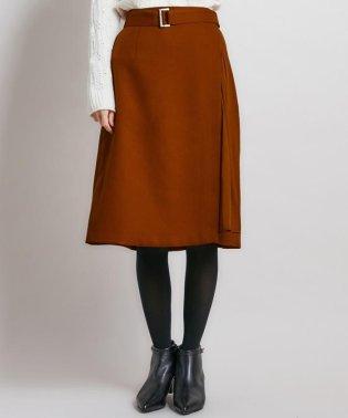 【洗える】ウールライクツイル スカート