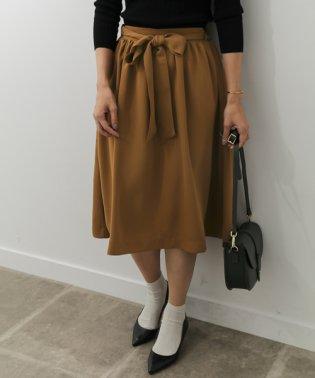 【DOORS】ウエストリボン付ギャザースカート