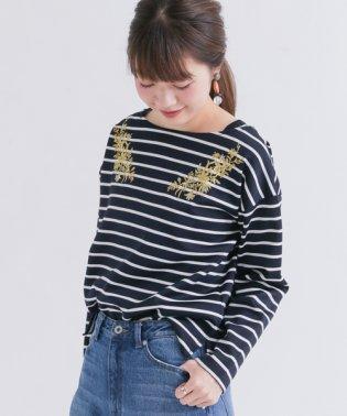 【SonnyLabel】ボーダーフラワー刺繍プルオーバー