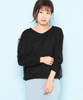 【SENSEOFPLACE】2wayチュールセーター
