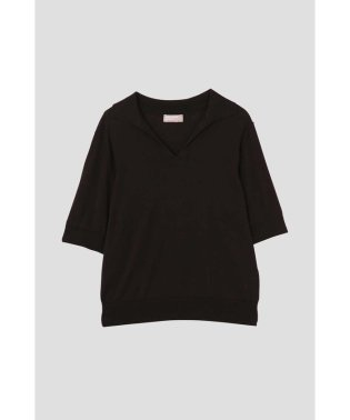 PLAIN OPEN COLLAR JUMPER
