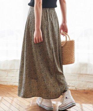 【WEB限定】レオパード柄ロングスカート