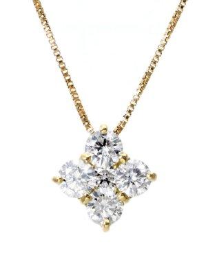 完全限定数特価!K18YG 天然ダイヤモンド 計0.5ct デザイン ネックレス 【K18イエローゴールド】
