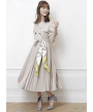 【TVドラマ着用】【美人百花 3月号掲載】スカーフ付きドレストレンチコート