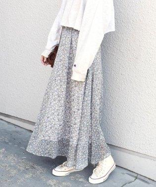 Khaju:フラワープリントロングスカート