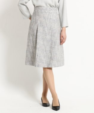 【WEB限定】タックフレアーツイードスカート