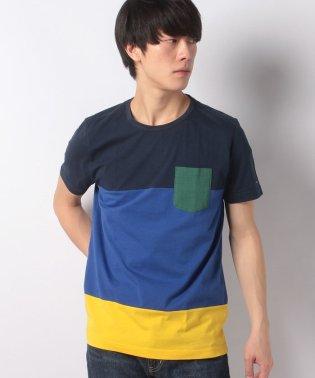 カラーブロックレギュラーフィットTシャツ