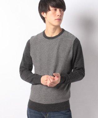 ミニパターンクルーネックセーター