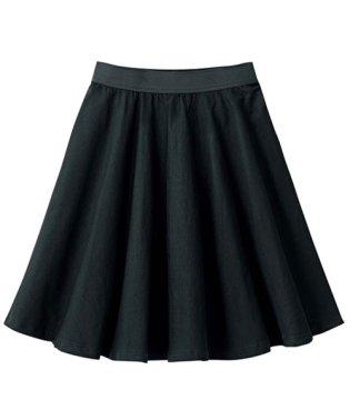 美ラインウエストゴムミディ丈スカート