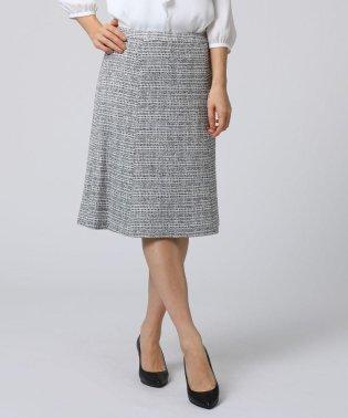 [L]ラメツイードスカート