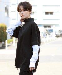 Champion × Ray BEAMS / 別注 レイヤード ボトルネック ロングスリーブTシャツ